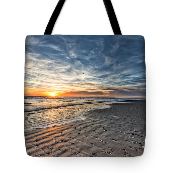 Beach Sunrise Tote Bag by Tod and Cynthia Grubbs