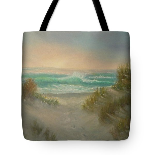 Cape Cod Beach Sunset Dunes Print  Tote Bag