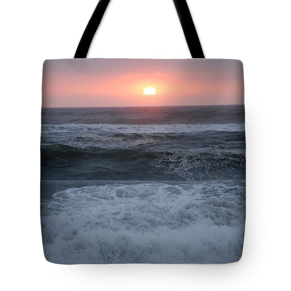 Beach Sunset Tote Bag by Holly Blunkall