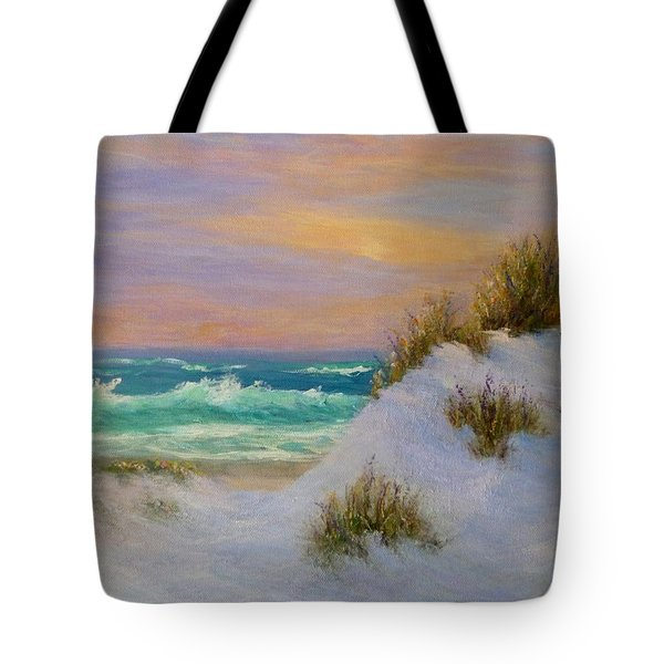 Beach Sunset Paintings Tote Bag
