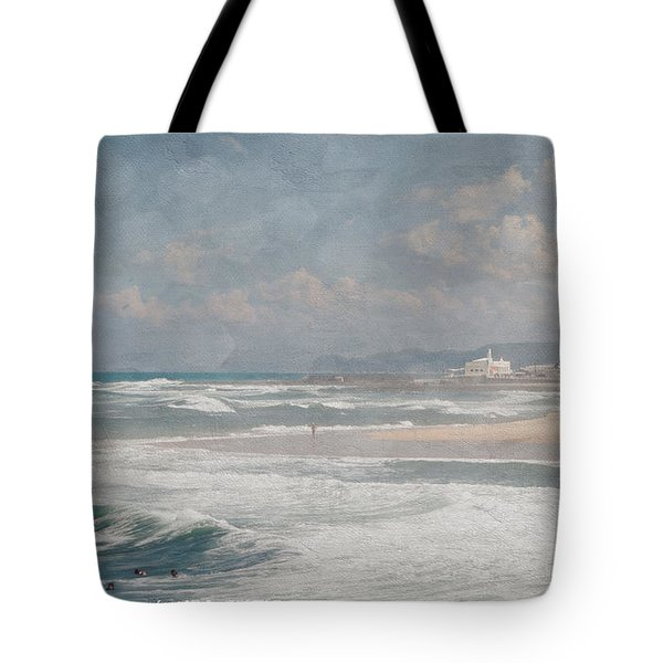 Beach Triptych 1 Tote Bag by Linda Lees