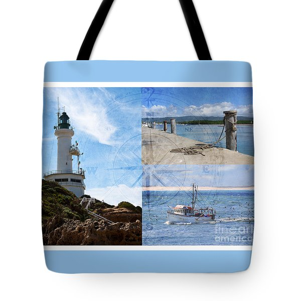 Beach Triptych 2 Tote Bag by Linda Lees