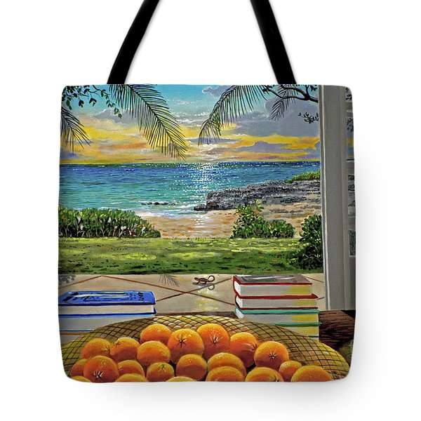 Beach View Tote Bag by Carey Chen