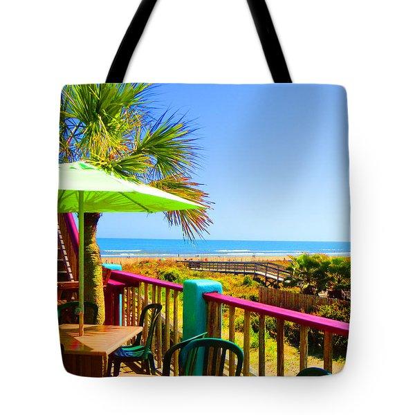Beach View Of The Ocean By Jan Marvin Studios Tote Bag