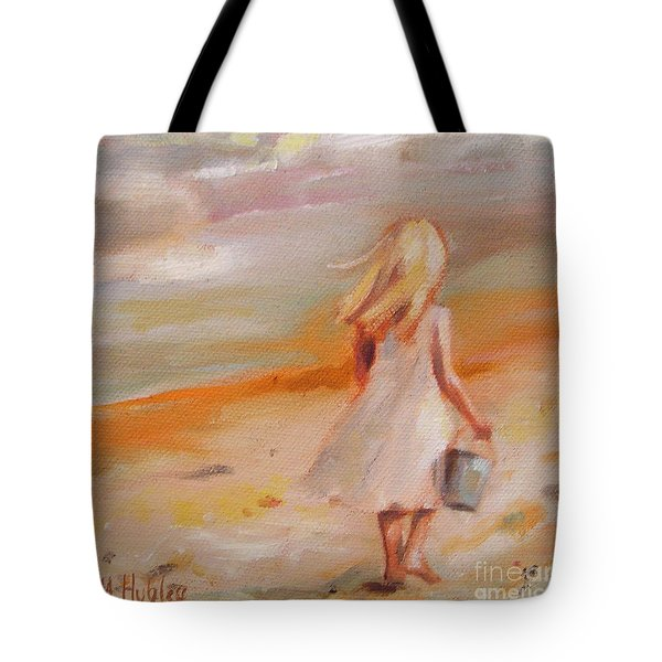 Beach Walk Girl Tote Bag