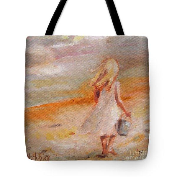 Beach Walk Girl Tote Bag