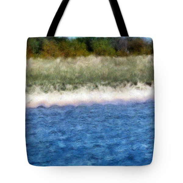 Beach With Short Dune Tote Bag by Michelle Calkins