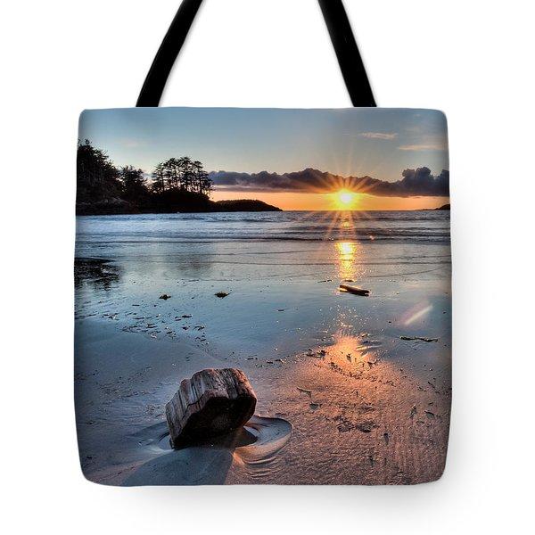 Beach Wood Chunk Tote Bag