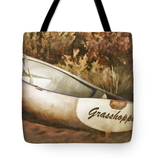 Beached Rowboat Tote Bag
