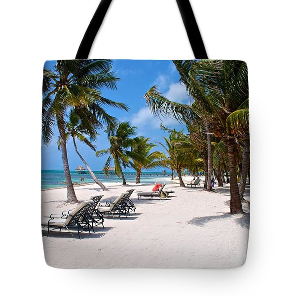Beachy Belize Tote Bag by Kristina Deane