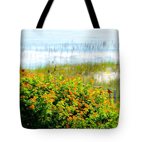 Beachy Butterflies  Tote Bag by Mary Ward