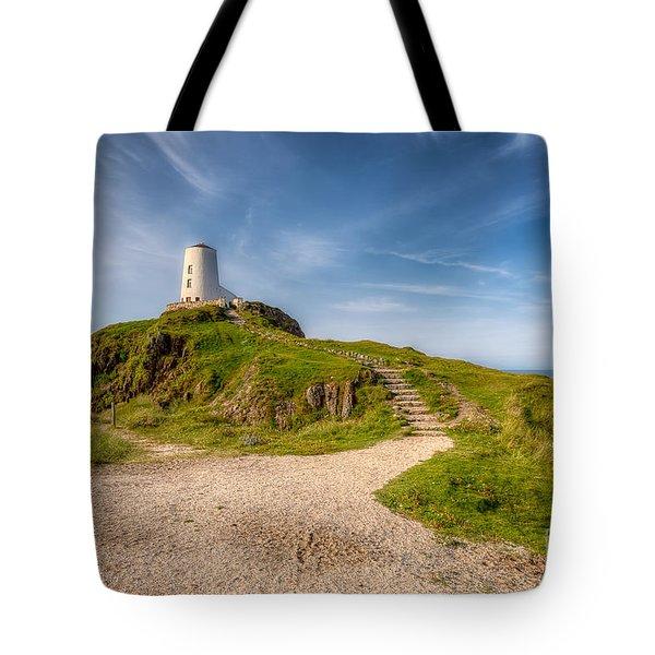 Beacon At Llanddwyn Tote Bag by Adrian Evans