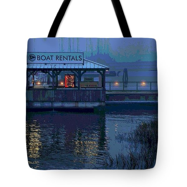 Tote Bag featuring the painting Beacon For Fun Times - Art by Laura Ragland