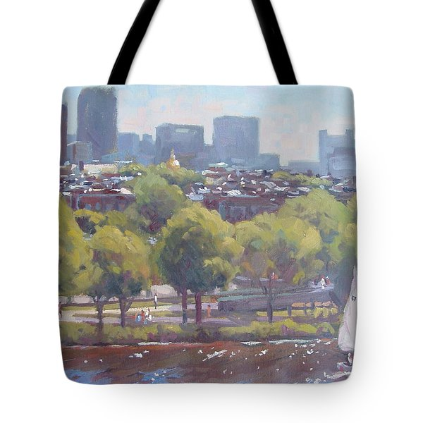 Beacon Hill Tote Bag by Dianne Panarelli Miller