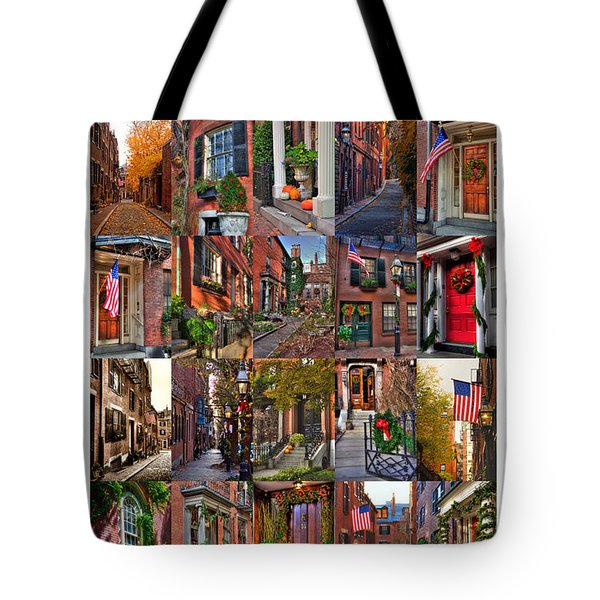 Beacon Hill - Poster Tote Bag by Joann Vitali