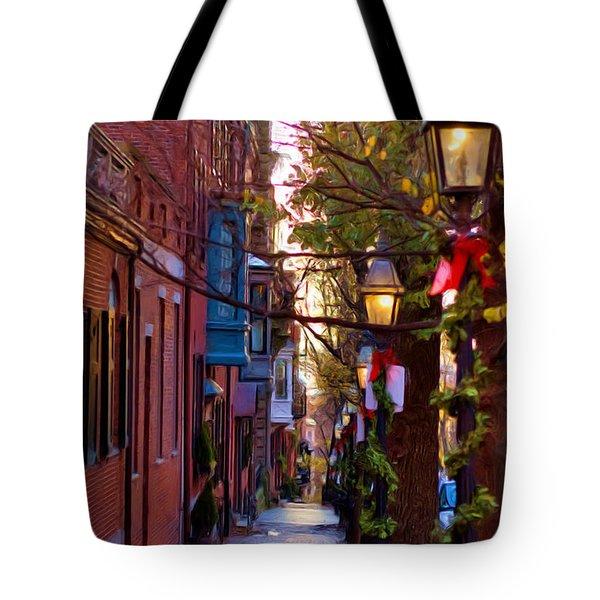 Beacon Hill Streets Tote Bag by Joann Vitali