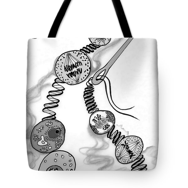 Tote Bag featuring the digital art Beads Of Life by Carol Jacobs