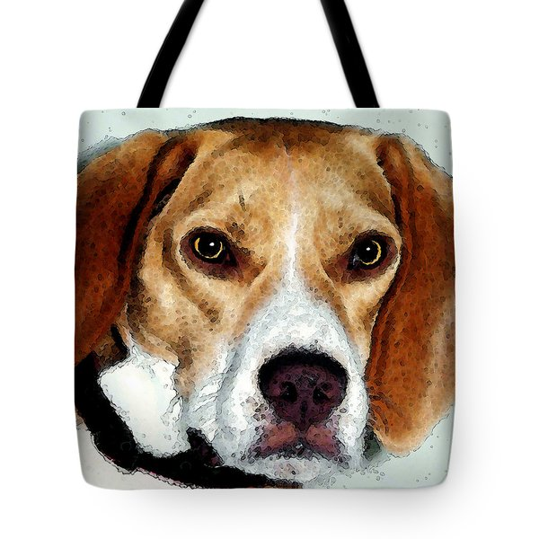 Beagle Art - Eagle Boy Tote Bag by Sharon Cummings