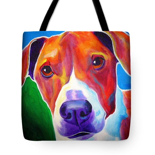 Beagle - Copper Tote Bag by Alicia VanNoy Call