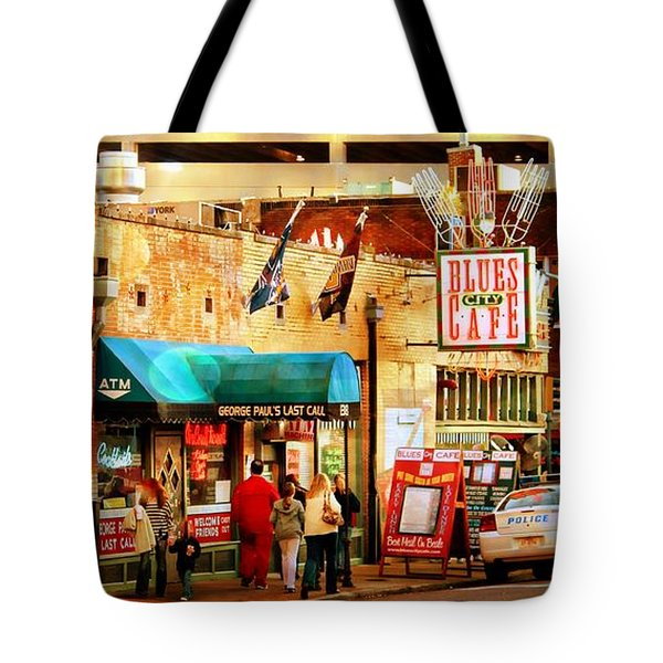 Tote Bag featuring the photograph Beale Street by Barbara Chichester