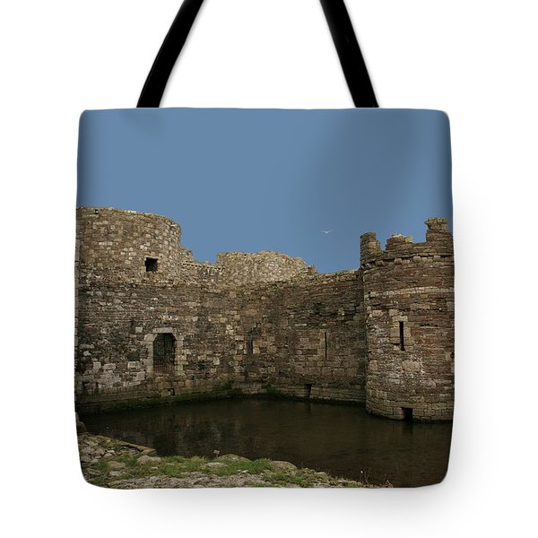 Tote Bag featuring the photograph Beamaris Castle by Christopher Rowlands