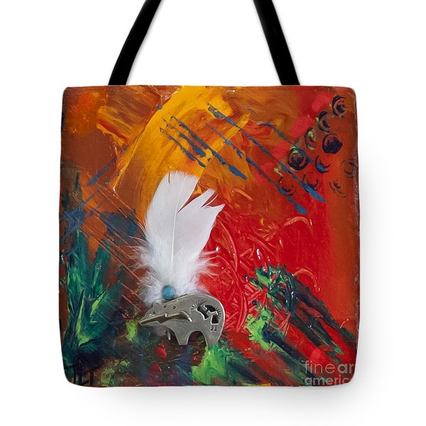Bear Abstract Tote Bag by Tracy L Teeter