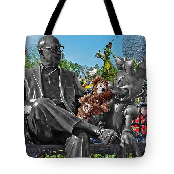 Bear And His Mentors Walt Disney World 03 Tote Bag by Thomas Woolworth