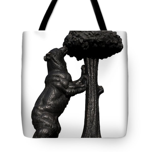 Tote Bag featuring the photograph Bear And The Madrono Tree by Fabrizio Troiani