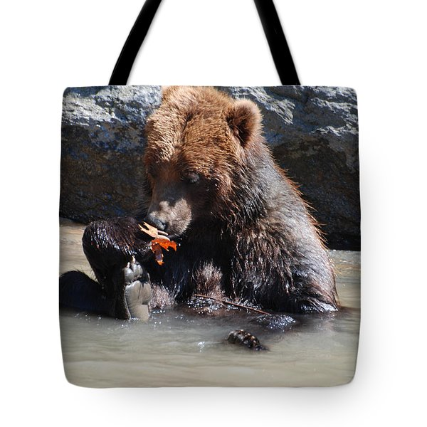 Bear Cub Tote Bag by DejaVu Designs