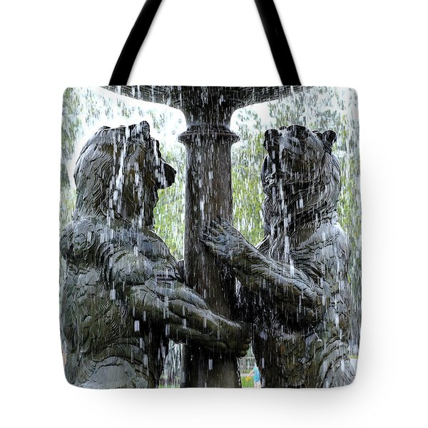 Bear Fountain Tote Bag