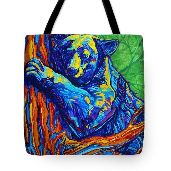 Bear Hug Tote Bag by Derrick Higgins