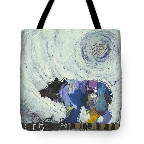 Tote Bag featuring the painting Bear IIi by Shelli Walters