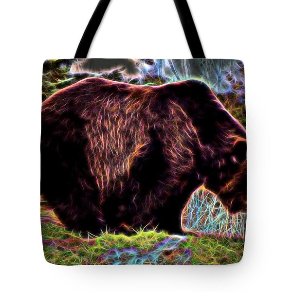 Colorful Grizzly Tote Bag