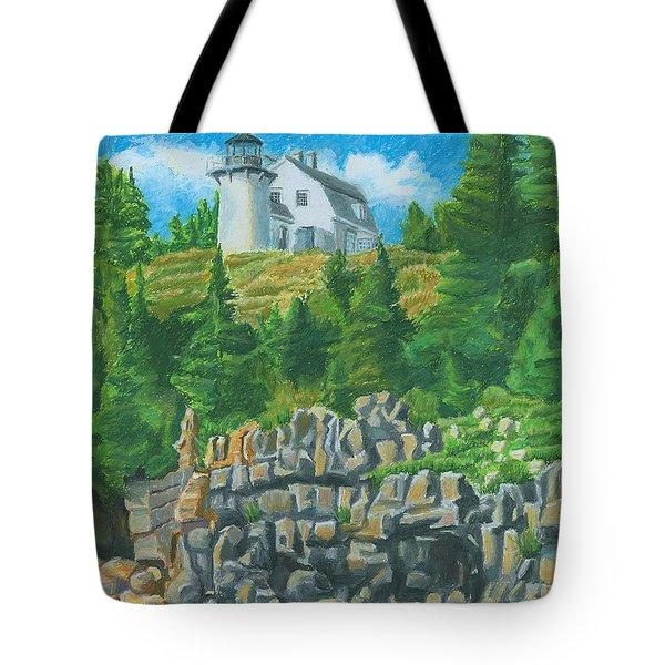 Bear Island Lighthouse Tote Bag