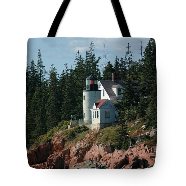 Bear Island Lighthouse Tote Bag by Kathleen Struckle