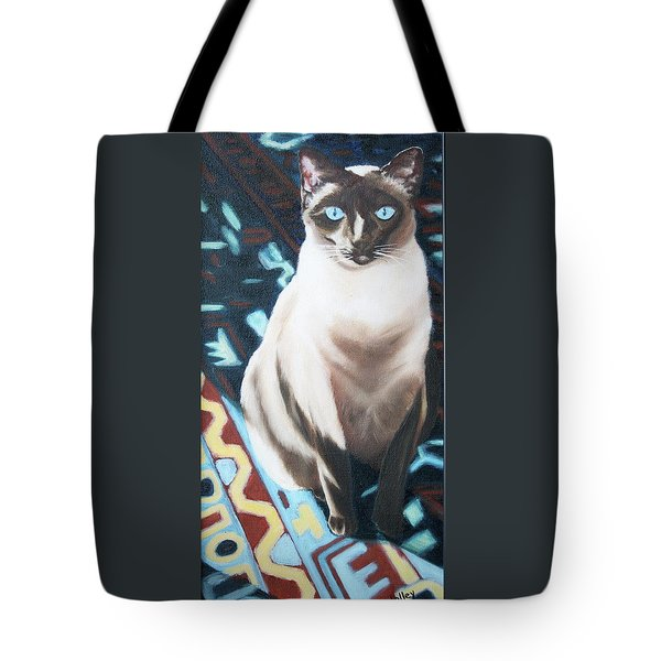 Tote Bag featuring the painting Bear by Nancy Jolley