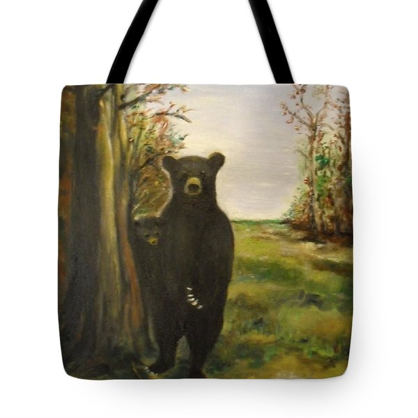 Tote Bag featuring the painting Bear Necessity by Laurie L