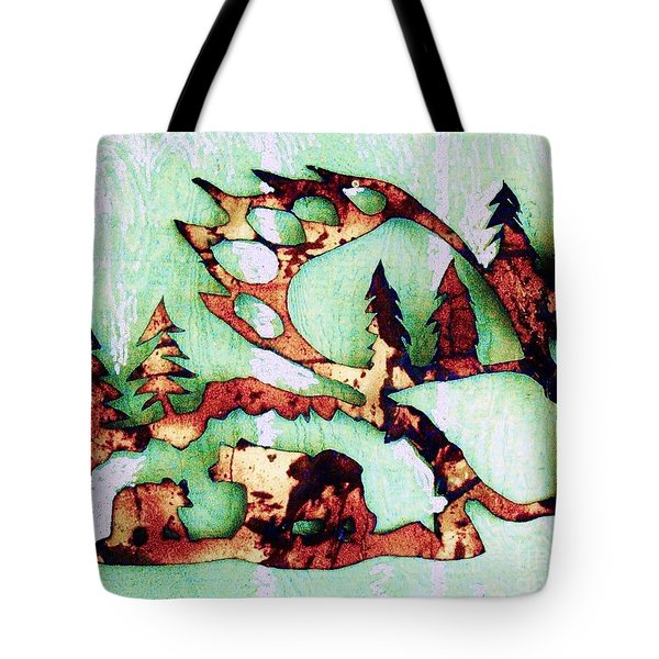 Bear Track 11 Tote Bag