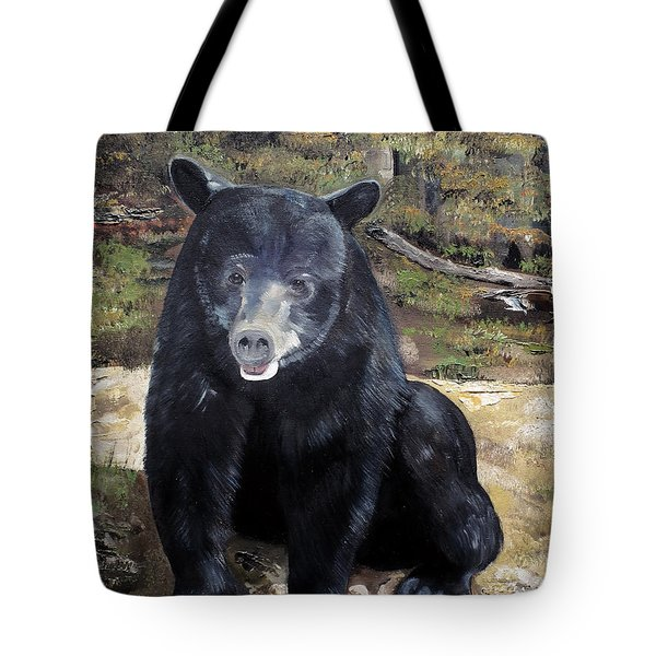 Bear - Wildlife Art - Ursus Americanus Tote Bag by Jan Dappen