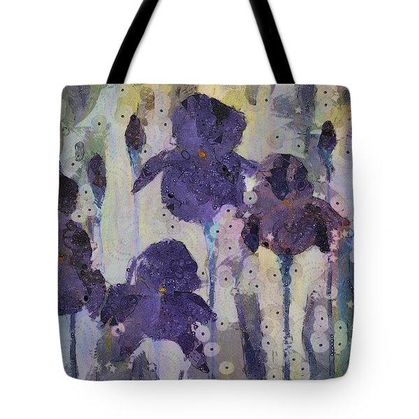 Bearded Irises Tote Bag