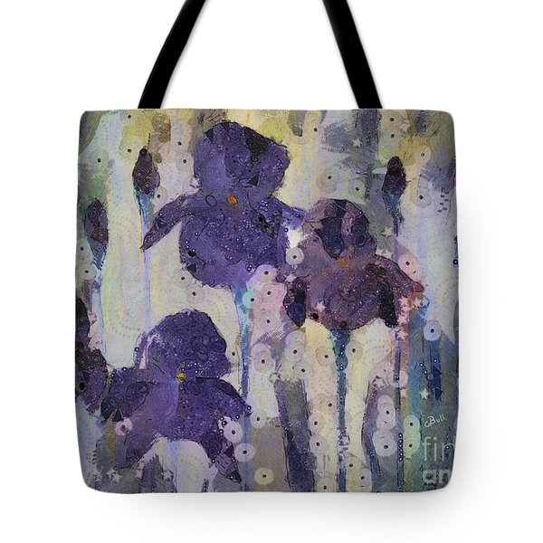 Bearded Irises Tote Bag
