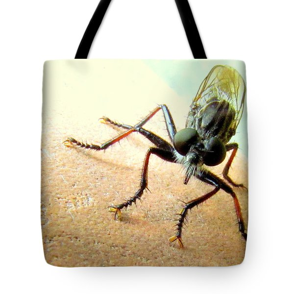 Bearded Robber Fly Tote Bag