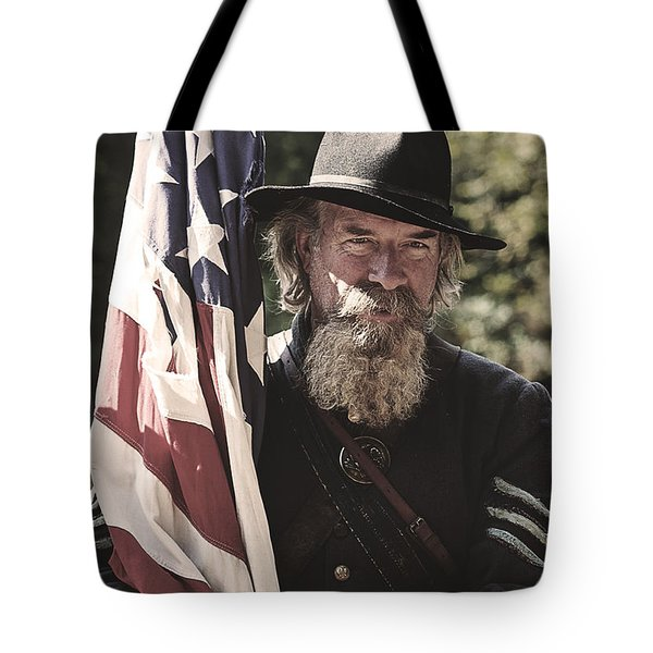 Bearing Old Glory D0256 Tote Bag by Wes and Dotty Weber