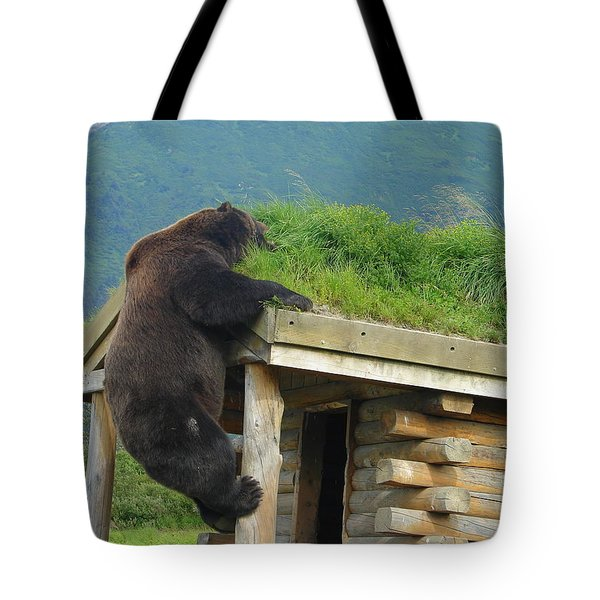 Bearly Able Tote Bag by Lew Davis