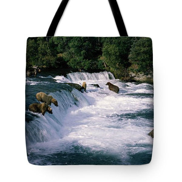 Bears Fish Brooks Fall Katmai Ak Tote Bag