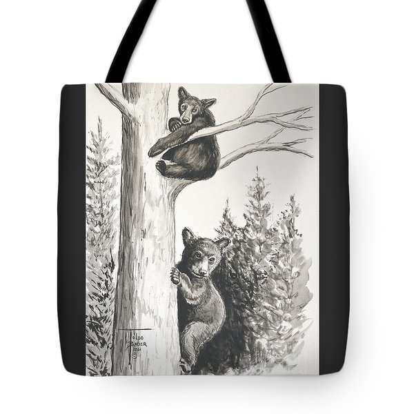 Bears In A Tree Tote Bag