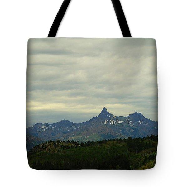 Beartooth Mountain Montana Tote Bag by Jeff Swan