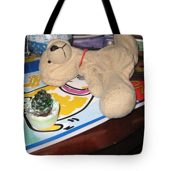 Beary Takes A Nap Tote Bag