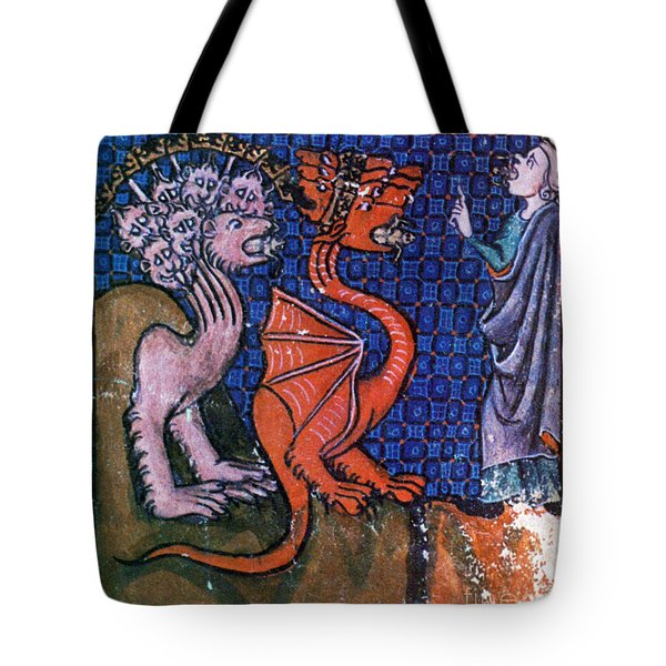 Beasts Vomiting Frogs, Apocalypse Tote Bag by Photo Researchers