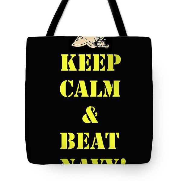 Beat Navy Tote Bag